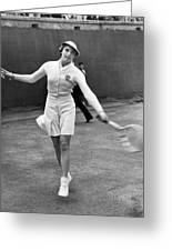 Tennis Star Katherine Stammers Greeting Card