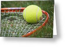 Tennis Greeting Card by Valerie Morrison