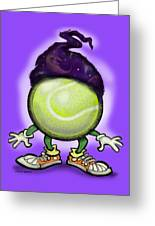 Tennis Wiz Greeting Card