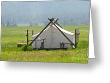 Tent Living Montana 2010 Greeting Card