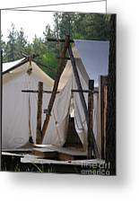 Tent Living Montana Greeting Card