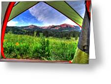 Tent View Greeting Card