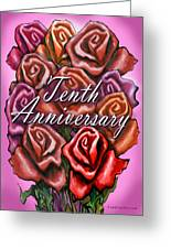 Tenth Anniversary Greeting Card
