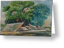 Tents Under Tree Greeting Card