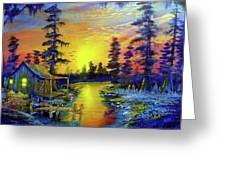 Tequila Sunrise In The Swamp Greeting Card