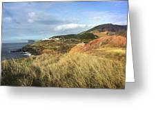 Terceira Island, Ilheus De Cabras And Lighthouse Of Ponta Das Contendas Greeting Card by Kelly Hazel