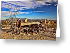 Terlingua Ghost Town 2 Greeting Card