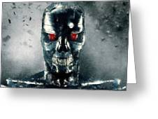 Terminator Oil Pastel Sketch Greeting Card
