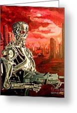 Terminator T800 Greeting Card