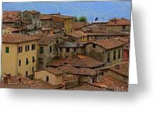 Terra-cotta Roofs Barga Vecchia Italy Greeting Card