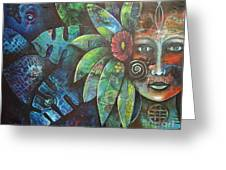 Terra Pacifica By Reina Cottier Nz Artist Greeting Card