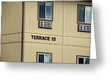 Terrace 13 Ithaca College New York Signage Greeting Card