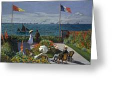 Terrace At Sainte-adresse Greeting Card