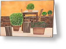 Terrace In Tuscany Greeting Card