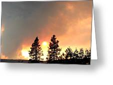 Terrace Mountain Fire 2  Greeting Card