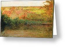 Terrace, Sun, Gerberoy Greeting Card