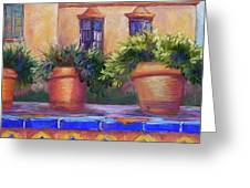 Terracotta And Tiles Greeting Card