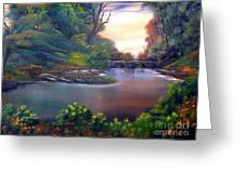 Terracotta Crossing Sold Greeting Card by Cynthia Adams