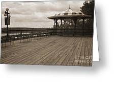 Terrasse Dufferin And St Lawrence River In Quebec Canada Greeting Card