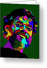 Terrence Mckenna Portrait Greeting Card