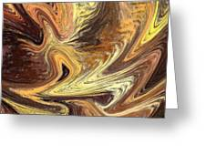 Terrestrial Fire Abstract Greeting Card
