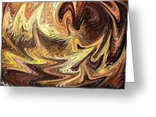 Terrestrial Flames Abstract  Greeting Card