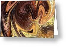 Terrestrial Vortex Abstract Greeting Card