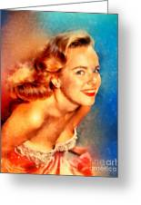 Terry Moore, Vintage Hollywood Actress Greeting Card