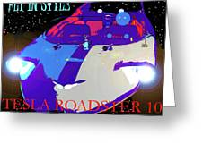 Tesla Roadster 10 Greeting Card