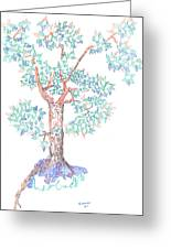 Tesselated Tree Greeting Card