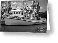 Moon Shadow Working Boat Greeting Card