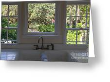 Window Over The Sink Greeting Card