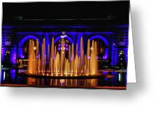 Fountain At Union Station Greeting Card