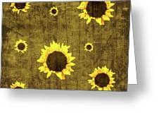 Test Rustic Sunflower Custom Greeting Card