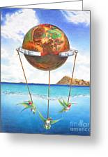Tethered Sphere Greeting Card