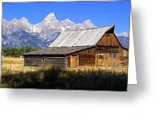 Teton Barn 5 Greeting Card