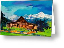 Teton Barn  Greeting Card by Elise Palmigiani