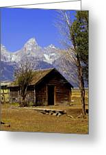 Teton Cabin Greeting Card