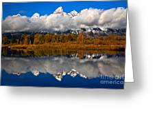 Teton Cloud Swarm Greeting Card