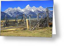 Teton Corral 2 Greeting Card