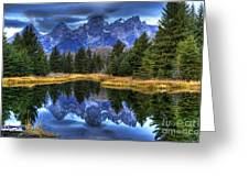 Teton Dawn Reflection Greeting Card