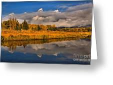 Teton Fall Foliage And Fog Greeting Card