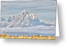Teton Long Shot Greeting Card by David Armstrong