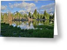 Teton Mirror Image Greeting Card