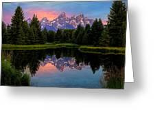 Teton Mornig Glow  Greeting Card