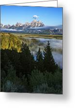 Teton Morning Snake River Overlook Greeting Card
