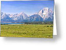 Teton Panorama Greeting Card