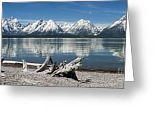 Teton Range Reflections Greeting Card