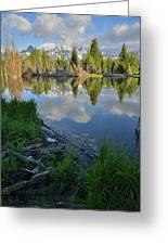 Teton Reflection In Schwabacher Landing Greeting Card