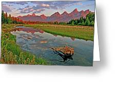 Teton Reflection Greeting Card